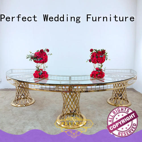 Perfect Wedding Furniture marble wedding reception table with contemporary manufacturing series for dining room