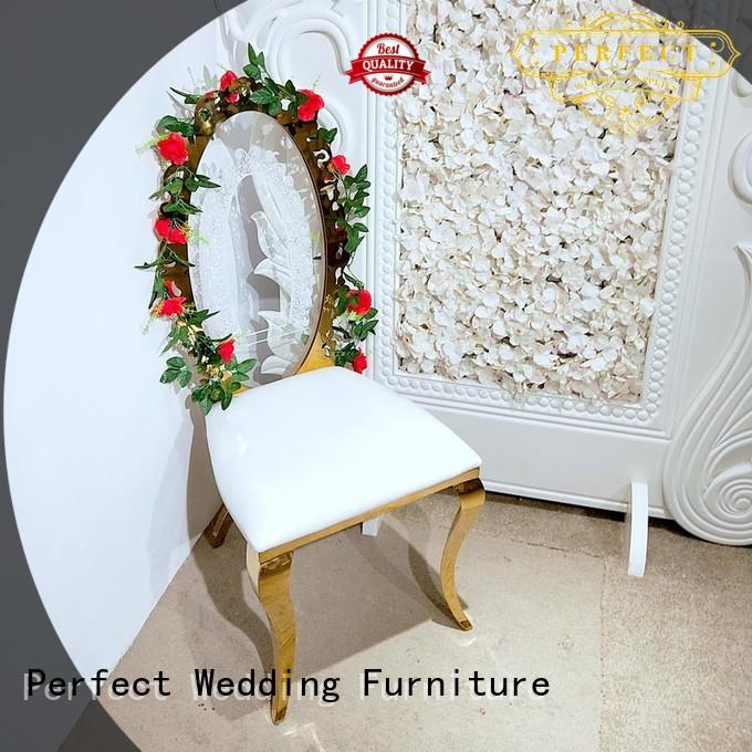 Perfect Wedding Furniture dining gold wedding chairs Suppliers for wedding ceremony