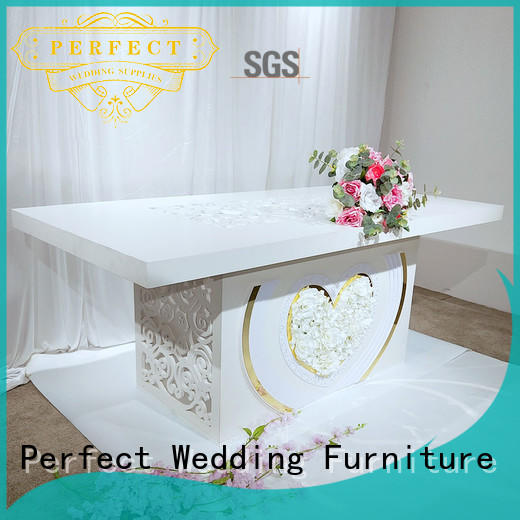 glass wedding table design half for wedding ceremony Perfect Wedding Furniture