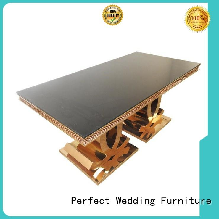 high quality top table wedding glass supplier for wedding ceremony