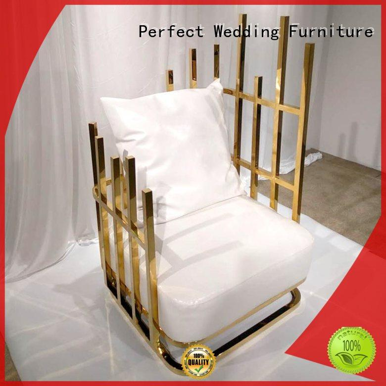 Perfect Wedding Furniture stainless queen throne chair for business for hotel