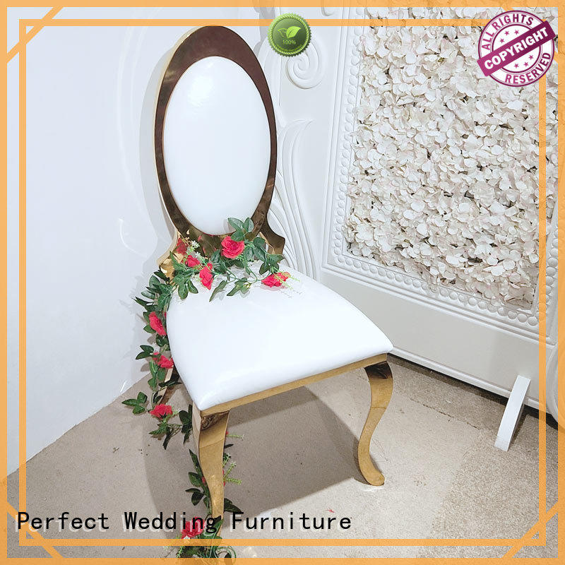 Perfect Wedding Furniture back gold wedding chairs manufacturer for wedding ceremony