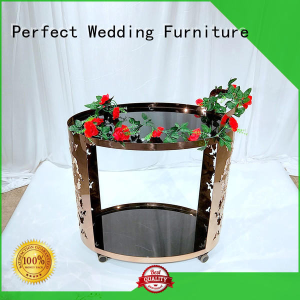 Perfect Wedding Furniture dining serving cart manufacturer for home