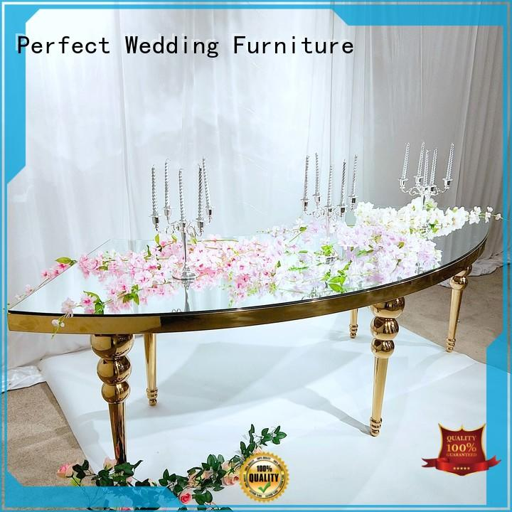 Perfect Wedding Furniture high quality round wedding tables in various shapes for hotel