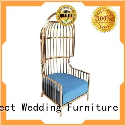 Perfect Wedding Furniture Custom king and queen chairs company for hotel