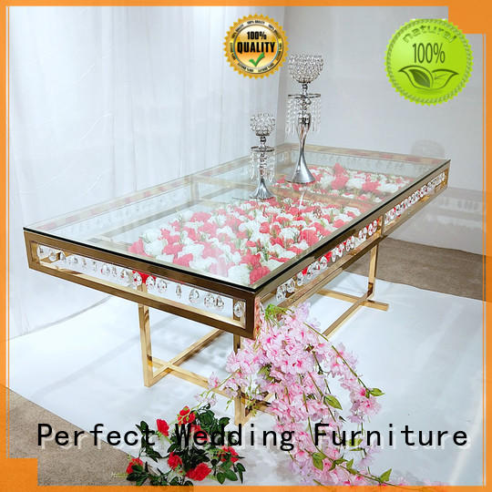 Perfect Wedding Furniture high quality gold wedding table in various shapes for wedding ceremony