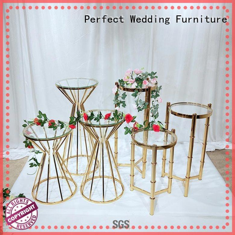stainless gold flower stand manufacturer for home