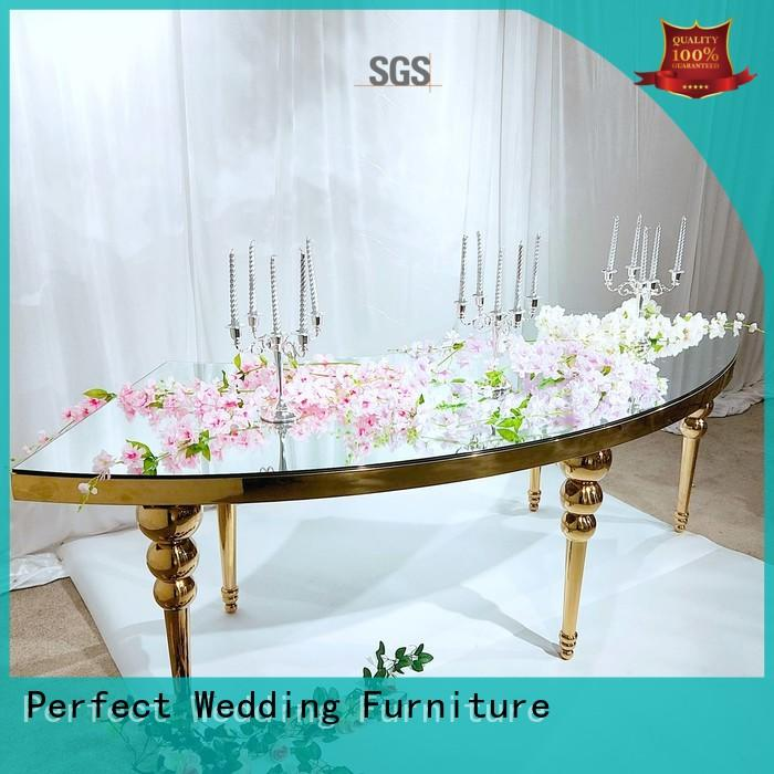 glass wedding dining table supplier for wedding ceremony Perfect Wedding Furniture