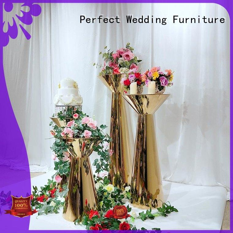 Wholesale gold flower stand beautiful for business for wedding ceremony