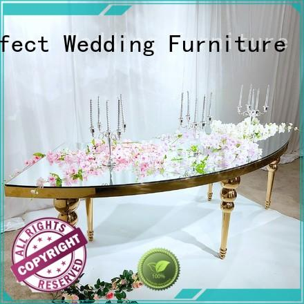 durable wedding reception table glass wholesale for hotel