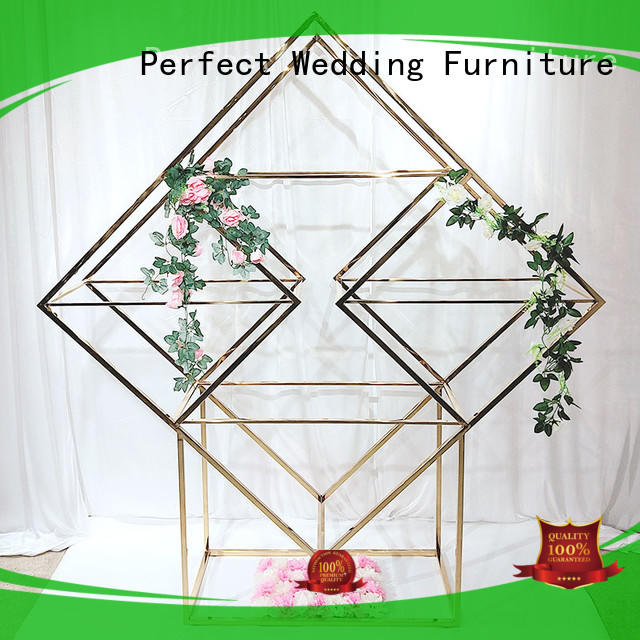 Custom decorative metal shelves gold Suppliers fro outdoors