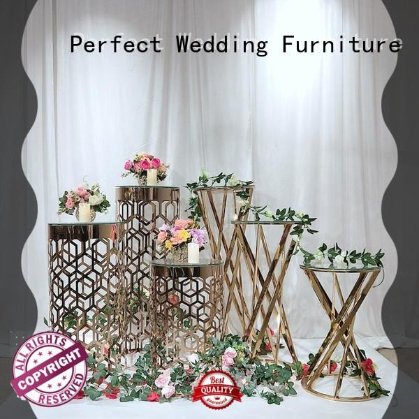durable metal flower stand pedestal wholesale for wedding ceremony
