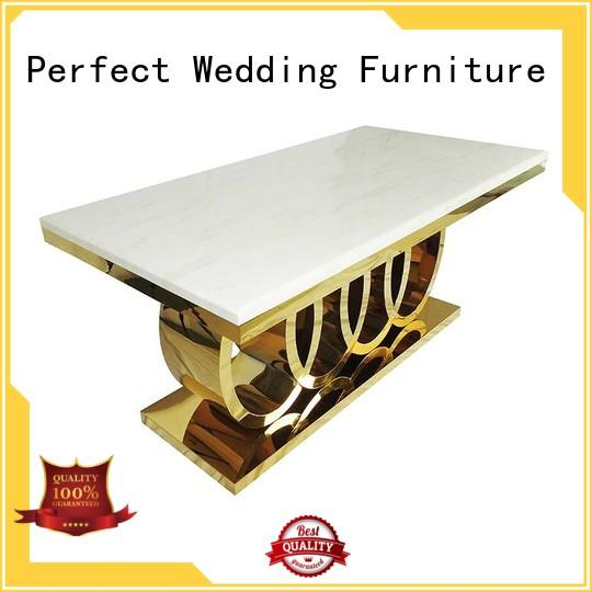 Perfect Wedding Furniture Brand pvc wedding dining sets white supplier