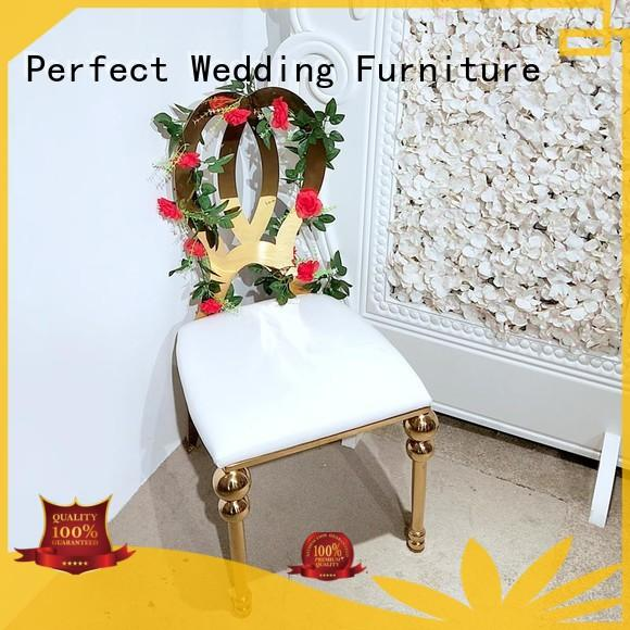 stainless steel wedding reception chairs dining wholesale for hotel