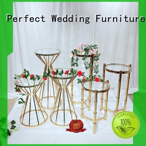 Perfect Wedding Furniture Latest gold flower stand factory for wedding ceremony