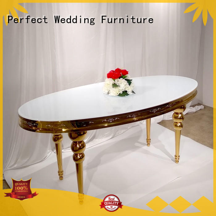 Perfect Wedding Furniture gold wedding table with contemporary manufacturing series for hotel