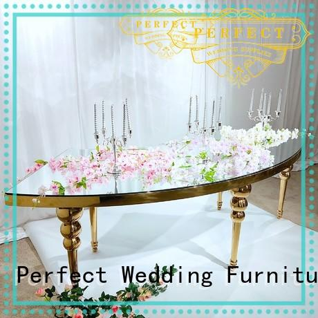 Perfect Wedding Furniture gold wedding party table Suppliers for wedding ceremony