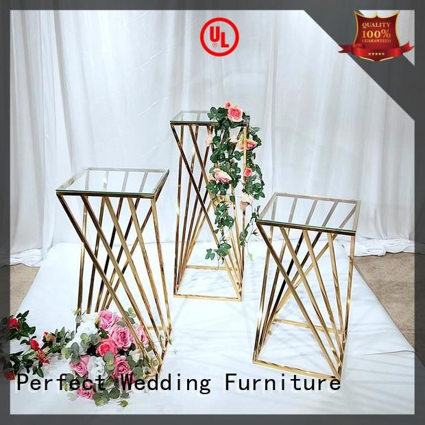 Perfect Wedding Furniture high quality flower stands for wedding aisle color for hotel