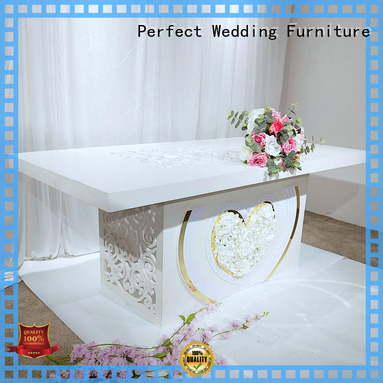 wedding party table gold for hotel Perfect Wedding Furniture