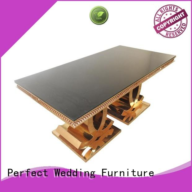 customized round wedding tables white in various sizes for wedding ceremony