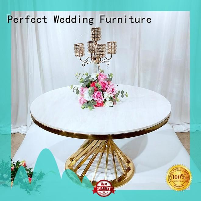 Perfect Wedding Furniture simple wedding party dining table pvc for dining room