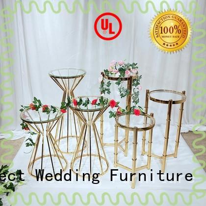 Perfect Wedding Furniture gold gold flower stand to accommodate for wedding ceremony