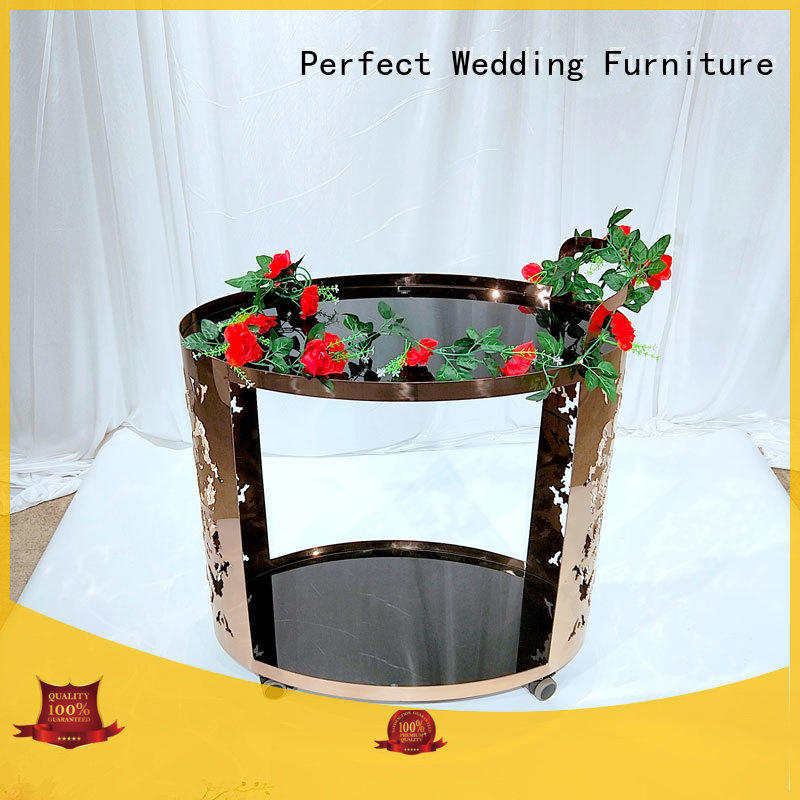 Perfect Wedding Furniture High-quality trolley bar cart Supply for wedding ceremony