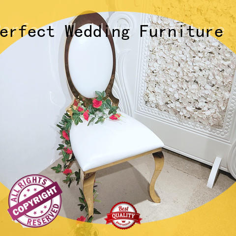 Top gold wedding chairs back company for hotel
