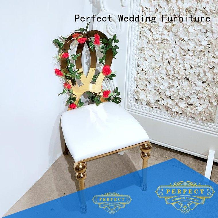 Perfect Wedding Furniture dining wedding chairs for bride and groom Supply for wedding ceremony