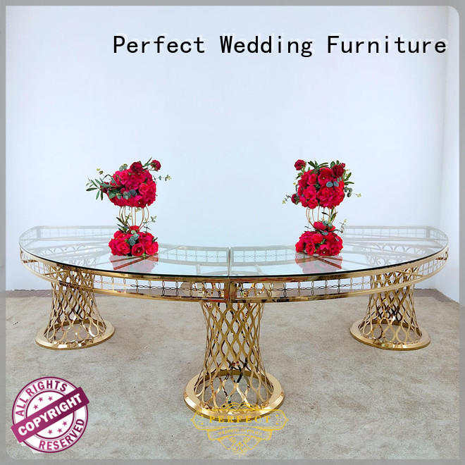 Custom wedding display table half for business for dining room