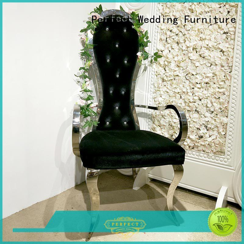 Perfect Wedding Furniture high quality king and queen chairs wholesale for wedding ceremony