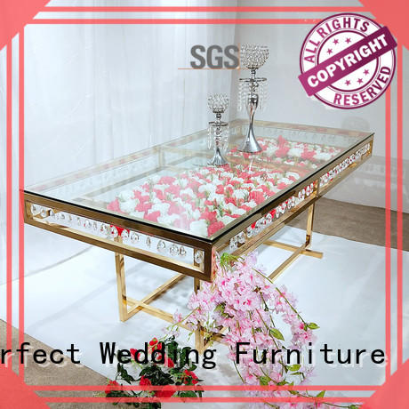 perfectly wedding reception dining table supplier for hotel