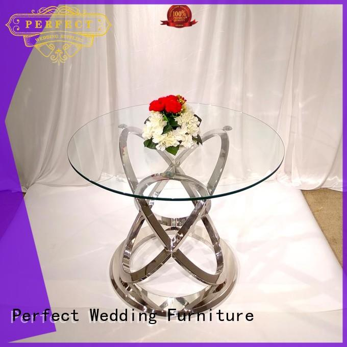 Perfect Wedding Furniture steel wedding banquet tables in various shapes for hotel