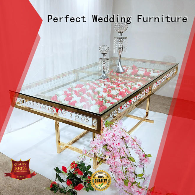 Perfect Wedding Furniture Custom wedding guest table decorations Suppliers for hotel