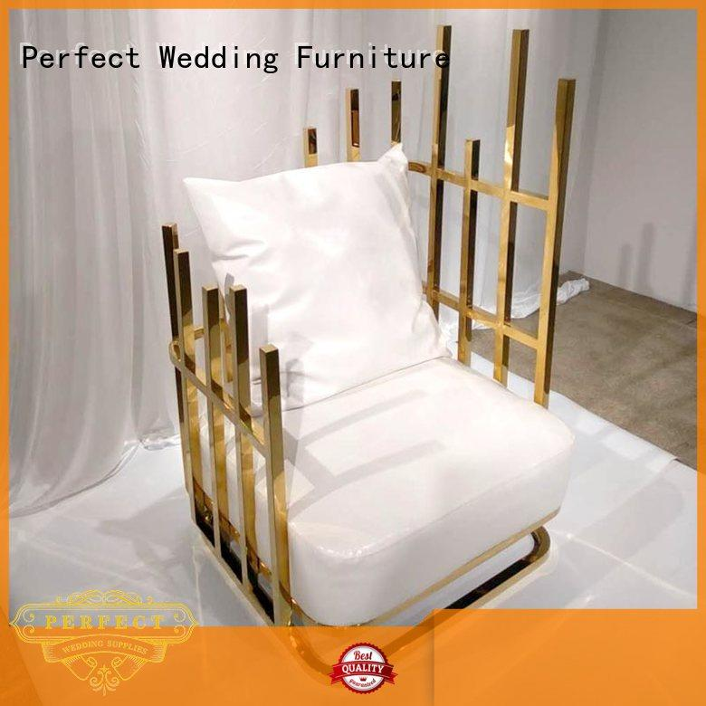 Wholesale leisurely steel throne style chairs Perfect Wedding Furniture Brand