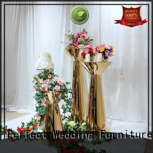Perfect Wedding Furniture high quality gold flower stand supplier for wedding ceremony