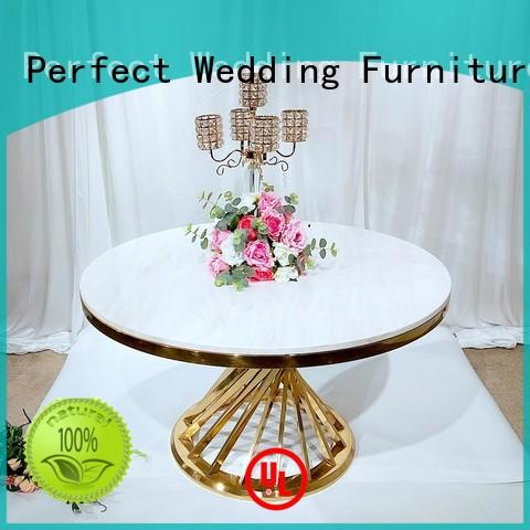 gold tables at weddings in various sizes for wedding ceremony Perfect Wedding Furniture