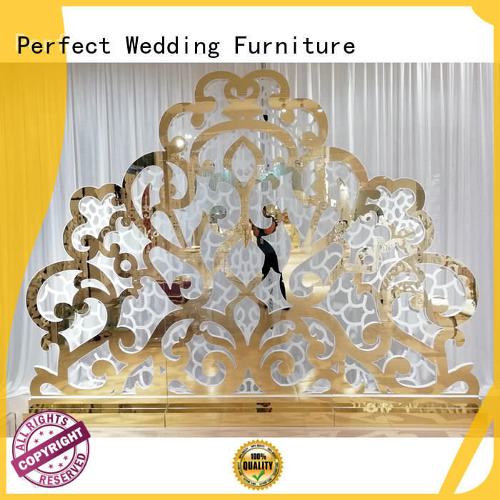 gold pvc wedding screen dividers Perfect Wedding Furniture manufacture