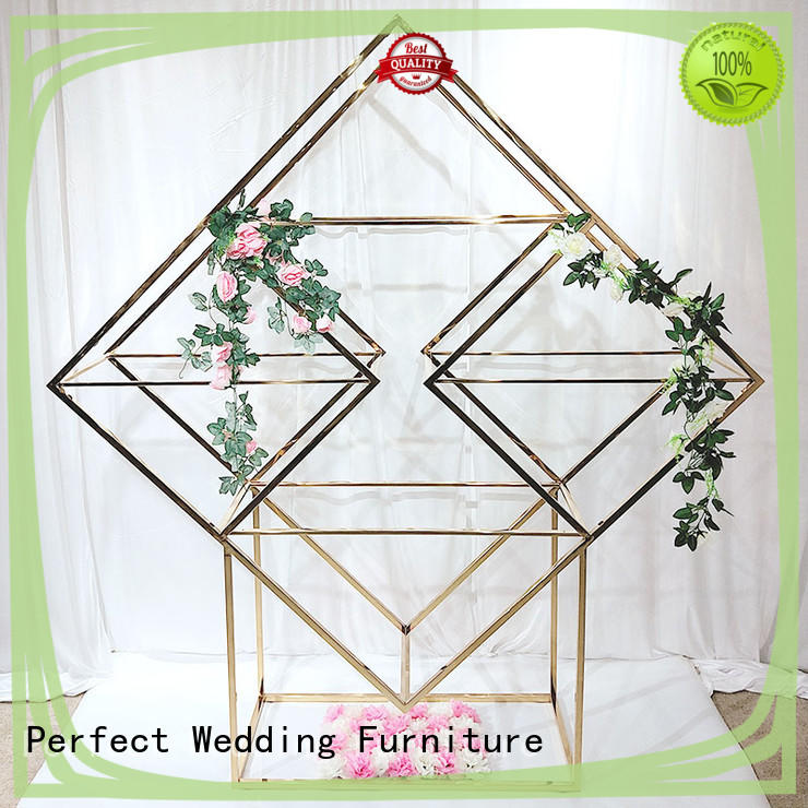 Perfect Wedding Furniture Latest decorative metal shelves factory for wedding ceremony