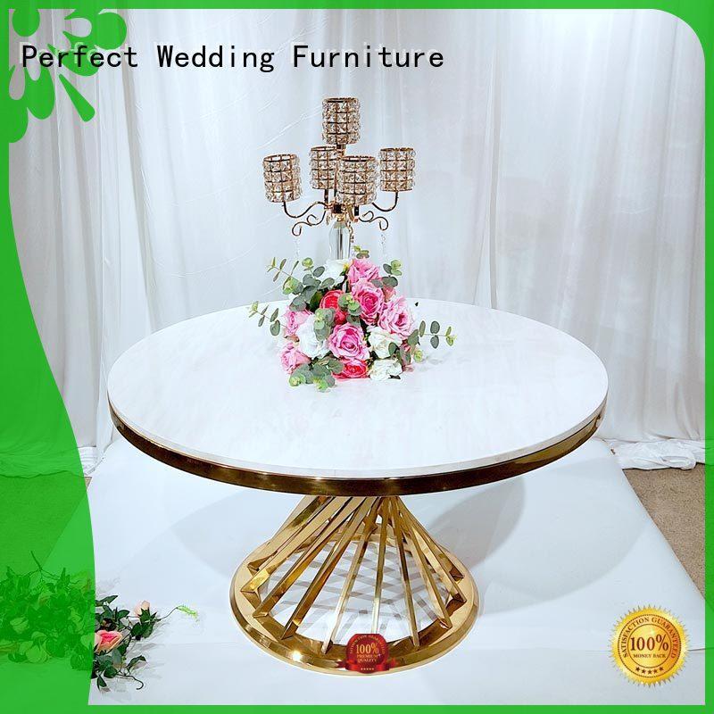 Perfect Wedding Furniture Custom round wedding tables Supply for wedding ceremony