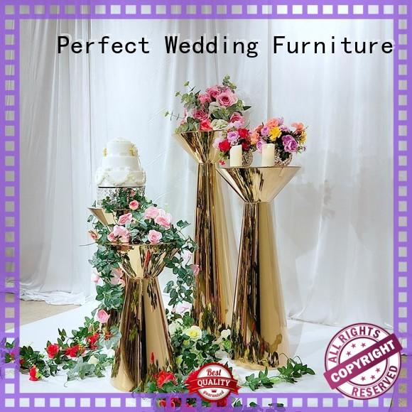 stainless tall floral centerpiece stands to accommodate for hotel Perfect Wedding Furniture