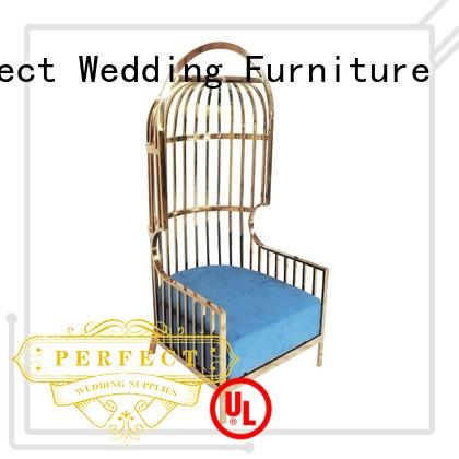Perfect Wedding Furniture high quality king and queen throne chairs supplier for wedding ceremony