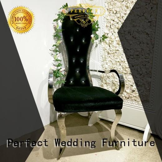 Perfect Wedding Furniture stainless queen throne chair series for wedding ceremony