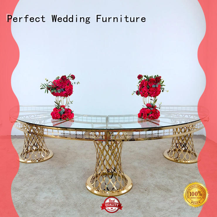 perfectly wedding banquet tables stainless in various sizes for hotel