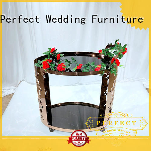 Perfect Wedding Furniture beaty tea serving cart supplier for hotel