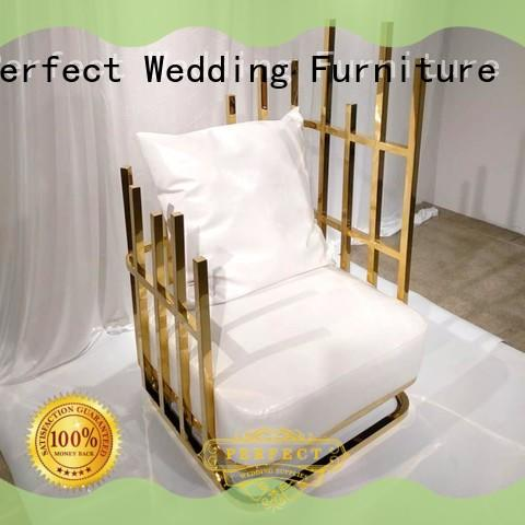 Perfect Wedding Furniture traditional king and queen throne chairs manufacturer for wedding ceremony