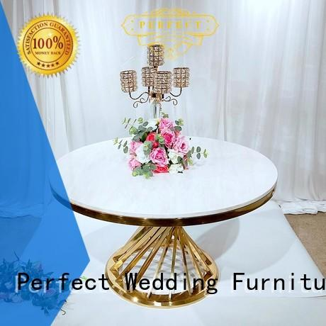 Perfect Wedding Furniture marble top table wedding in various sizes for hotel