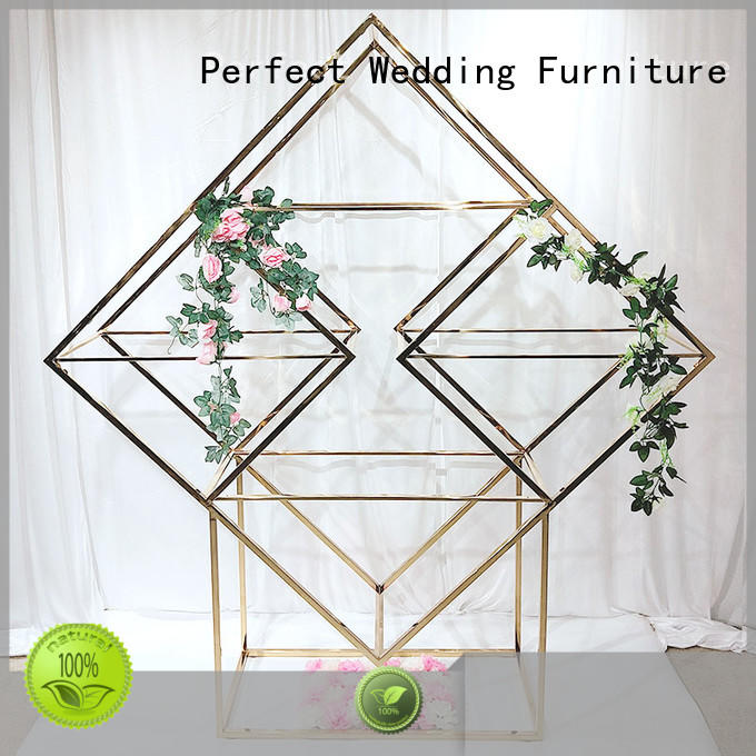 Perfect Wedding Furniture gold decorative shelving units factory for indoors