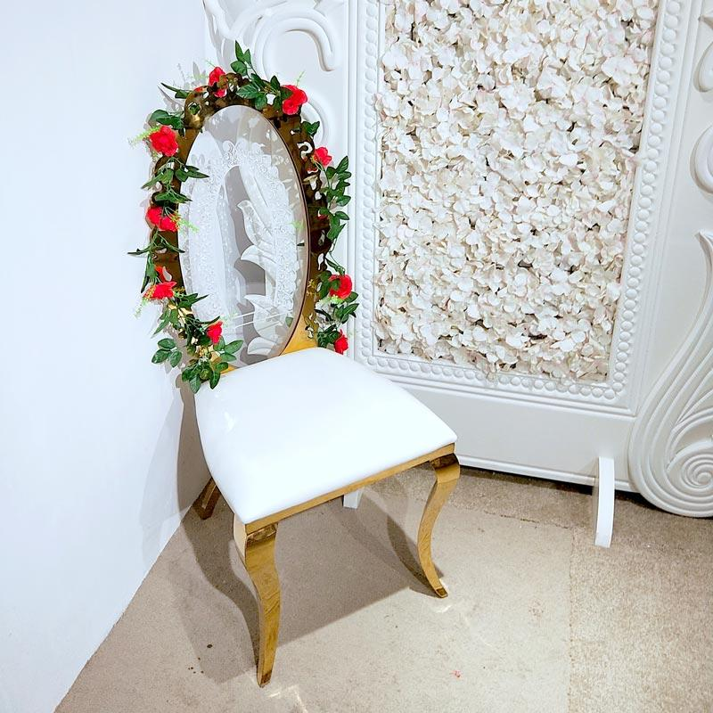 Perfect Wedding Furniture gold wedding chairs in the waiting areas for hotel-2