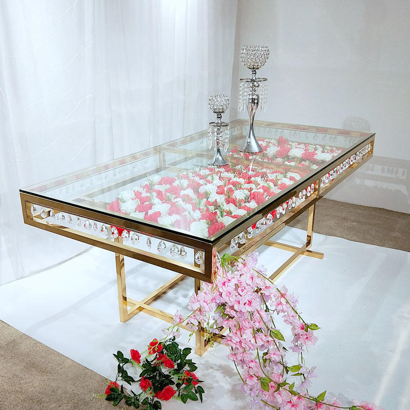 Perfect Wedding Furniture glass round wedding tables wholesale for wedding ceremony
